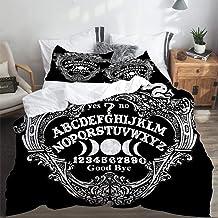 PANILUR Bedding Juego,Fondo de Tablero de Muerte Querubín OuijaFunda de Nórdico Fundas de Almohada 140x200cm +2(50x80cm)