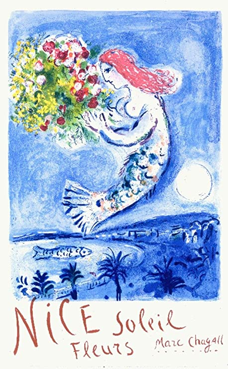 Marc Chagall Night Vintage Framed Art