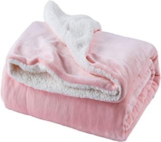 Bedsure Sherpa Fleece Blanket Twin Size Pink Plush Throw Blanket Fuzzy Soft  Blanket Microfiber 16ceecfd5