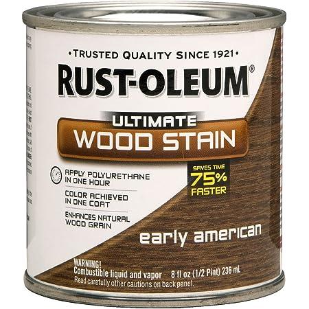 Rust-Oleum 260361 Ultimate Wood Stain, Half Pint, Early American