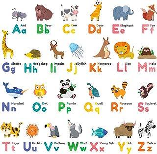 Decowall DW-1614 Colourful Animal Alphabet ABC Kids Wall...