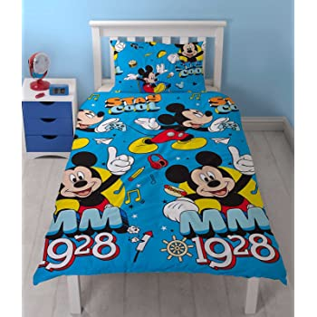 Multicolor 200x140x0.5 cm Dise/ño Mickey and Friends Jerry Fabrics Ropa de Cama para/Ni/ños/con Cremallera Algod/ón
