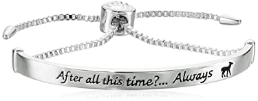 """Harry Potter Silver Plated """"After all this time... Always"""" Lariat Silver Bracelet"""
