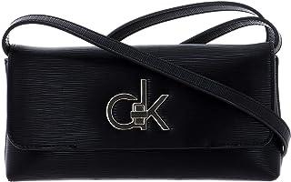 Calvin Klein Damen RE-Lock Clutch MD EP Clutch Schwarz (Black)