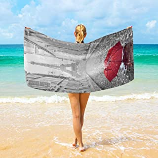 Sophia CunhaS Large Surf Beach Bath Towel Lightweight Soft Absorbent Printed Plush Towels for Indoor/Outdoor - 32