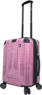 Mia Toro Italy Macchiolina Polish Hardside Spinner Carry-on, Burgundy