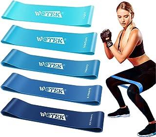 comprar comparacion WOTEK Bandas Elasticas Fitness, Cintas Elasticas Musculacion Goma Elastica Fitness Bandas Elasticas Musculacion Bandas De ...