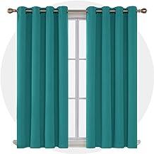 ستائر معتمة من ديكونوفو، لوحة نافذة معزولة حرارياً صلبة لغرفة النوم، 132.7 سم × 150.8 سم، باللون الفيروزي