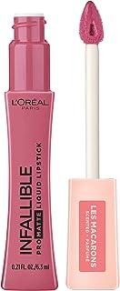 L'Oreal Paris Makeup Infallible Pro Matte Les Macarons Scented Matte Liquid Lipstick, Highly Pigmented, Longwear, Waterproof & Smudge Proof, Praline De Paris, 0.21 fl. oz.