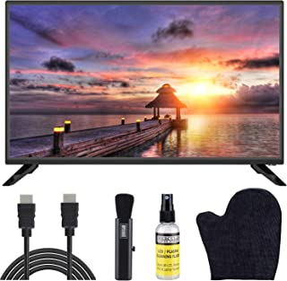 Sansui 32-Inch 720p HD DLED Smart TV (S32P28N) with Built-in HDMI, USB, High Resolution, Digital Noise Reduction, Dolby Audio Bundle with 6.5 ft HDMI Cable and LCD Screen Cleaning Kit