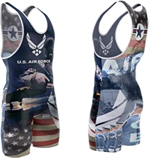 4 Time Wrestling Singlet for Men and Youth, Powerlifting, MMA Apparel, Black, Navy Blue, Red