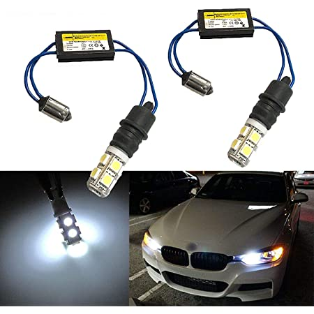 2 x BA9S 5 SMD Day White Error Free Interior Car H6W 5 LED Light Bulb Lamp A76F