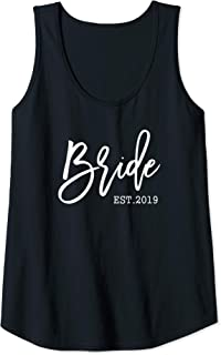 Womens Bride Est 2019 Cute Gift for the Future Wife Soon to be Mrs Tank Top