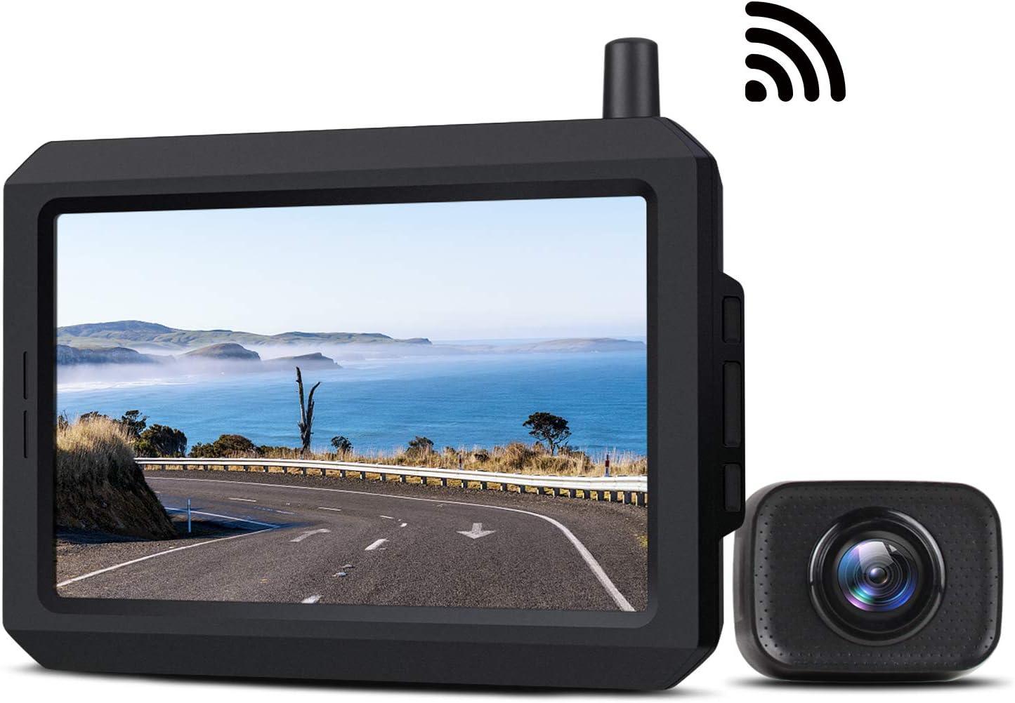 "Boscam 5"" LCD Waterproof Wireless Backup Camera Kit $84.57 Coupon"
