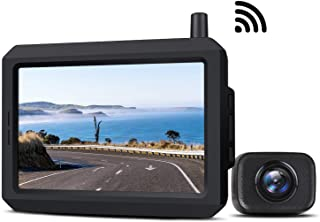 $83 » 5 Inch Wireless Backup Camera Kit with Digital Signal, Waterproof Rear View Camera with 5″ TFT-LCD Monitor, Ideal for Seda...