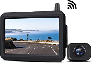 Wireless Backup Camera Kit with Digital Signal, Waterproof Rear View Camera with 5″ TFT-LCD Monitor, Ideal for Sedans, Pic... photo