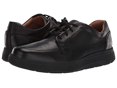 Clarks Un Abode Ease (Black Leather) Men