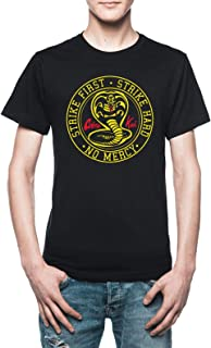 Vendax Strike First Strike Hard No Mercy - Cobra Kai T-Shirt Uomo Nero