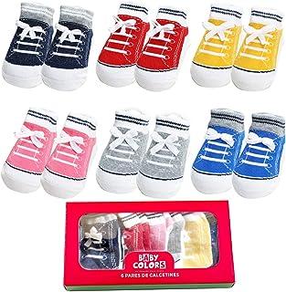 Sponsored Ad - Baby Non Slip Infant Newborn Boys Girls Ankle Socks 6 Pairs