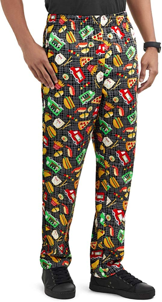 Men's favorite On The Daily bargain sale Go Print Chef Traditional Pant Baggy XS-3X Fit
