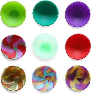 Kingro 9-Pack Mini Silicone Pinch Bowls, 1.75 Ounce Prep & Serve Bowls, Multi-color