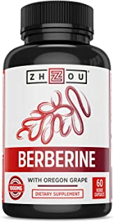 Sponsored Ad - Zhou Nutrition Berberine with Oregon Grape for Healthy Fat Metabolism & Ketone Synthesis, 60Count