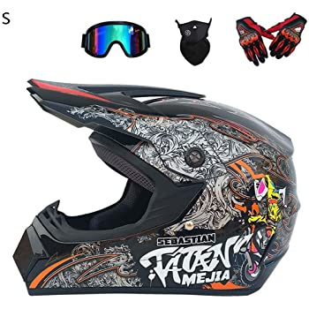 locomotiva personalit/à guanti BMX SK-LBB set da 4 caschi da citt/à cross per moto casco da motocross mountain bike