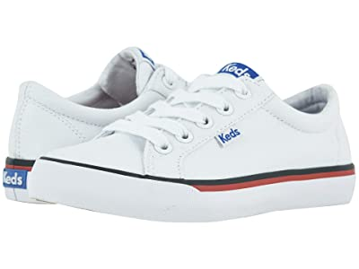 Keds Kids Jumpkick (Little Kid/Big Kid) (White) Girl