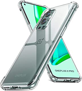 Emodil Case for OnePlus 9 Pro Case Cover Back Air Cushion Soft Silicone Shockproof Anti-Scratch Protective Bumper Shell Co...