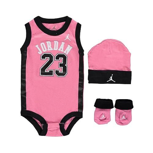 75d9e34da1b6b8 Jordan Baby Clothes 3 Piece Basketball Jersey Set (0-6 months) Pink