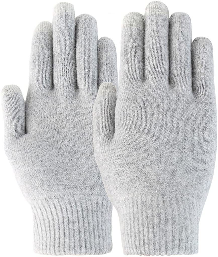 Novawo Unisex Magic Wool and Cashmere Blend Stretchy Touchscreen Gloves