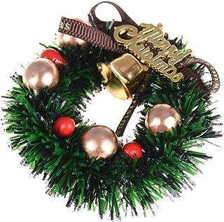 Dollhouse Christmas Wreath 3Pcs/Set , Mini Creative Xmas Wreaths, 1:12 Doll House Christmas Decoration, Miniature Garland ...