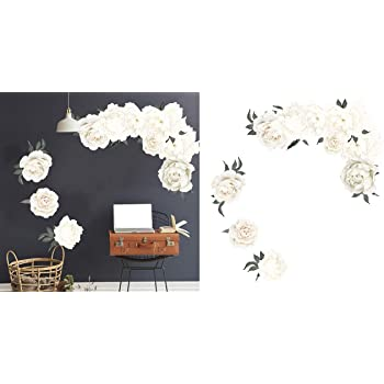 Mini Nouvelles Images HOST1933 White Orchid Wall Decals