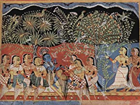 Lais Jigsaw West Indian Painter Around 1550 - Gîtâ Govinda Manuscript, Scene: Krishna and Gopîs in The Woods 2000 Pieces