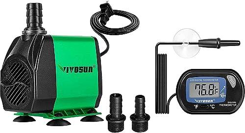 wholesale VIVOSUN online sale 800GPH Submersible Pump & 1-Pack LCD wholesale Digital Aquarium Thermometer online