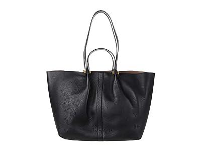 AllSaints Allington East/West Tote (Black) Handbags