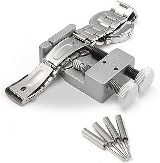 LLF Kit d'outils de réparation de bracelet de montre en métal avec 4 broches supplémentaires