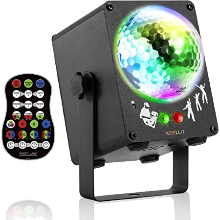 16-Color LED Stage Light Wireless Speaker Crystal Ball Light Rechargeable panDE