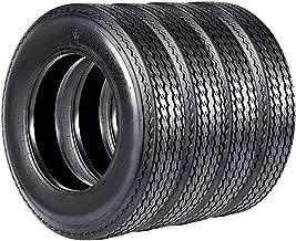 VANACC Trailer Tires 5.30-12 Set of 4 5.30x12 Highway Boat Motorcycle Trailer Tire Load Range C