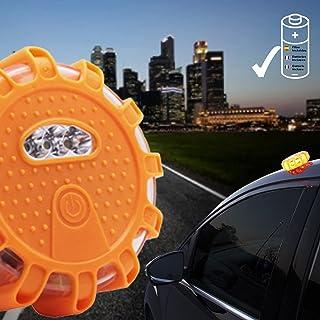Qindalo Luces de Emergencia averías de Coche en Carretera. 9 Modos de iluminación Color Amarillo Auto + Linterna. Plástico...