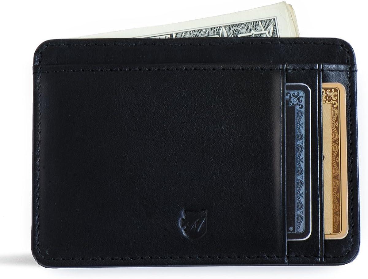 Axess Wallets Front Pocket Wallet, ID Wallet, Men's Wallet, Minimalist Wallet, RFID wallet, Green, Medium