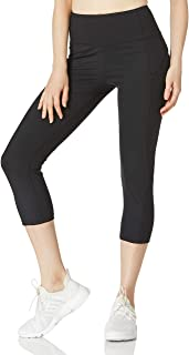Ocean Blues High Waisted Yoga Pants for Women with Pockets Capri Leggings