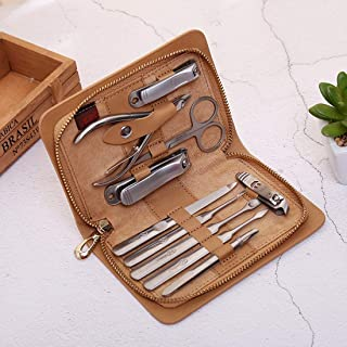Professional Barber New Stainless Steel Nail Scissors Set High-Grade Nail Clippers 10 Sets of Manicure Beauty Nail Tools T...
