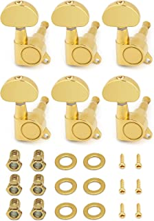 Metallor Sealed String Tuning Pegs Tuning Keys Grover Machines Heads Tuners 6 In Line Right Handed Electric Guitar Acousti...