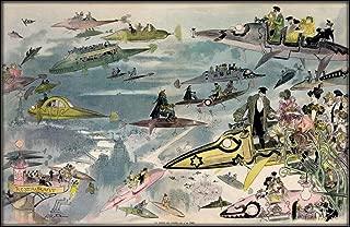 Albert Robida Futurist View of Paris Circa 1902 : Art Print