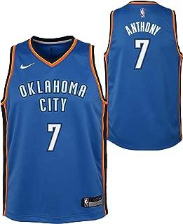 Outerstuff Carmelo Anthony Oklahoma City Thunder NBA Nike Youth Blue Icon Swingman Jersey