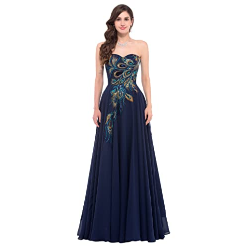 ede11599 GRACE KARIN Strapless Ball Gown Evening Prom Party Dress CL675
