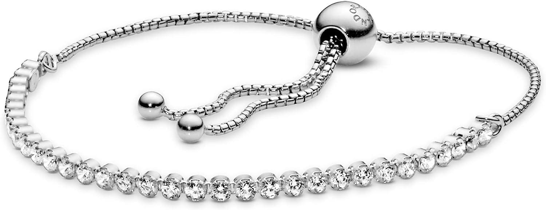 PANDORA Jewelry Sparkling Slider Tennis Cubic Zirconia Bracelet