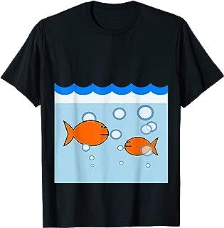 Goldfish Fishbowl Fish Bowl Tank Aquarium Halloween Costume T-Shirt