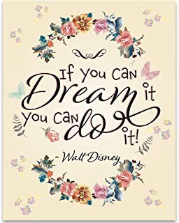 If You Can Dream It You Can Do It - Walt Disney - 11x14 Unframed Art Print - Great Inspirational Gift and Home Decor Under $15